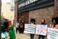 Protesters pack into Philadelphia Starbucks after controversial arrest, chant store is 'anti-black'
