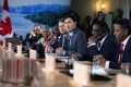 Amid tensions, all G-7 members sign statement