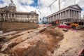 Stunned construction workers uncover 'Roman or Saxon' road perfectly preserved under the streets of Birmingham