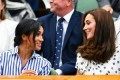 Kate Middleton Wears a Summery Polka Dot Dress Attending Wimbledon with Meghan Markle