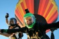 Couple Who Loves Skydiving Jumps From Hot Air Balloon After Tying the Knot