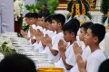 Thai cave boys ordained as Buddhist novices to honor dead rescuer