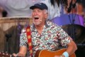 Jimmy Buffett surfs in South Carolina ahead of Hurricane Florence making landfall