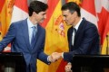 Trudeau affirms support for 'united Spain' following meetings with Spanish PM