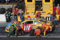 Denny Hamlin's team passes over No. 1 pit stall to Kyle Busch's team