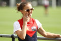 Natalie Portman visits Demons' pre-season training
