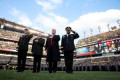 Donald Trump flips coin before Army-Navy game
