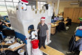 Man Makes Elaborate Castle at Work Desk for Christmas