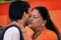 Photo Of The Day At Rajasthan Oath: Scindia Family Hug, Across The Divide