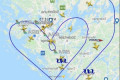 A Thomas Cook Airbus A330 Drew a Giant Heart in the Sky
