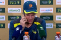 Tim Paine answers journalist's phone at press conference