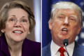 Trump mocks video of Warren with her husband