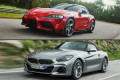 Behind the Wheel: 2020 Toyota Supra vs. 2020 BMW Z4