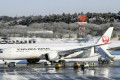 Plane skids off icy taxiway at Japan's Narita airport