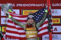 Shiffrin wins super-G, Vonn crashes at worlds