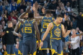 Warriors still overwhelming favorites after flurry of NBA trades