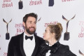 Emily Blunt rocks a matching tux with husband John Krasinski at the 2019 Writers Guild Awards