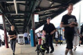 Police are slammed for performing STRIP SEARCHES on commuters in Sydney's busy Central Station during peak hour as they hunt for drugs