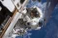 Watch two NASA astronauts work on ISS power system during spacewalk
