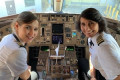Delta Airlines passenger shares photo of mother-daughter pilot team who flew him from LA to Atlanta - and the internet can't get enough of it