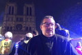 The hero who saved the Crown of Thorns: Fire brigade chaplain entered flaming Notre Dame to recover holy relic - three years after he bravely helped Bataclan terror victims