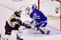 David Pastrnak scores twice as Bruins down Maple Leafs 6-4 to tie series 2-2