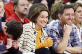 Houston Rockets Mascot Bends The Knee To 'Game Of Thrones' Star Emilia Clarke At NBA Playoff Game