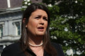 Sarah Sanders denies Trump walk-out was premeditated