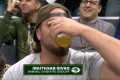 Rodgers, Bakhtiari have beer-chugging contest on Jumbotron at Bucks game
