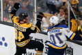 Boston Bruins' Matt Grzelcyk leaves Game 2 of Stanley Cup Final after hard hit