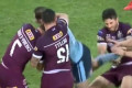 The sneaky Queensland tactic that went unnoticed: Maroons star rips off Blues captain Boyd Cordner's BOOT during play and hurls it into the stands - and he had to play without one for five minutes