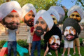 Leslieville residents show Raptors superfan some love with supersized Nav Bhatia heads