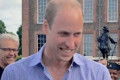 Prince William stuns well-wishers by greeting them in person after they hold all-day vigil outside Kensington Palace to mark Princess Diana's birthday