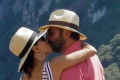 Eva Longoria passionately kisses husband José Bastón as they put on a loved-up display during sun-soaked day out in Capri