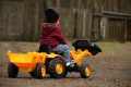 Missing toddler found after driving himself to local fair on toy tractor