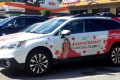 Liberal candidate removes Trudeau's image from her campaign car