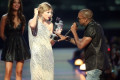 Taylor Swift Makes Sly Reference to Kanye West Crashing Her Speech 10 Years Ago on 2019 VMAs Carpet