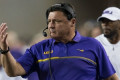 LSU's Ed Orgeron says Texas didn't have air conditioning in visitor's locker room