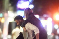 Jennifer Lawrence's fiance Cooke Maroney gallantly gives barefoot actress a piggyback after dinner date