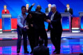 Left-wing protesters interrupt Biden during closing segment of Democratic presidential debate
