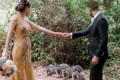 These Photos of Raccoons Photobombing a Couple's Wedding Portraits Are Simply Magical