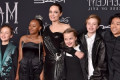 Angelina Jolie's Kids Wore Matching Black Outfits for the 'Maleficent' Premiere