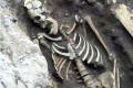 Three Roman skeletons are found under metro station in Rome thousands of years after they were buried in ancient cemetery