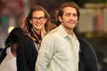 Jake Gyllenhaal and French Model Jeanne Cadieu Take a Romantic Evening Stroll in N.Y.C.