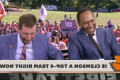 ESPN host cracks up at Swinney's impression of him