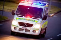 Pedestrian pinned under tree after Ipswich car crash
