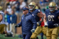 Officials fail to notice Notre Dame's Kelly on field during game-deciding onside kick