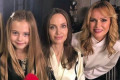 Amanda Holden's daughter Hollie interviews Angelina Jolie with a little help from her mum