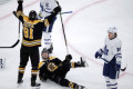 Pastrnak scores 10th, Bruins beat Maple Leafs 4-2