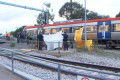 Emergency services free teenager from under train at Edwardstown